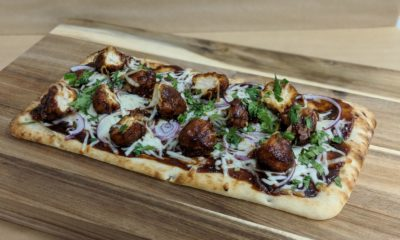 BBQ Chicken Flatbread Your days of choosing between pizza and wings are over.