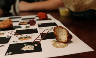 Saucy Slides: A Flavorful Twist on a Board Game Classic People say you aren't supposed to play with your food, but we beg to differ.