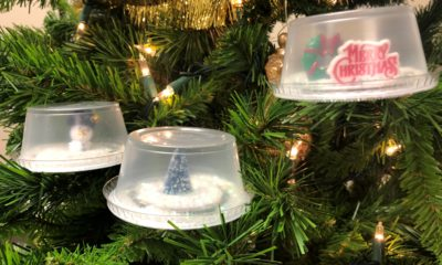 DIY: How to Make Your Own Mini Snow Globe An easy step-by-step guide on making a mini snow globe with a Wingstop ranch cup.