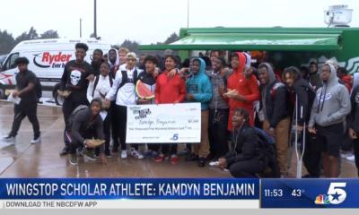 [Video] Kamdyn Benjamin Named December's Wingstop Scholar Athlete NBCDFW5 - December 19, 2018