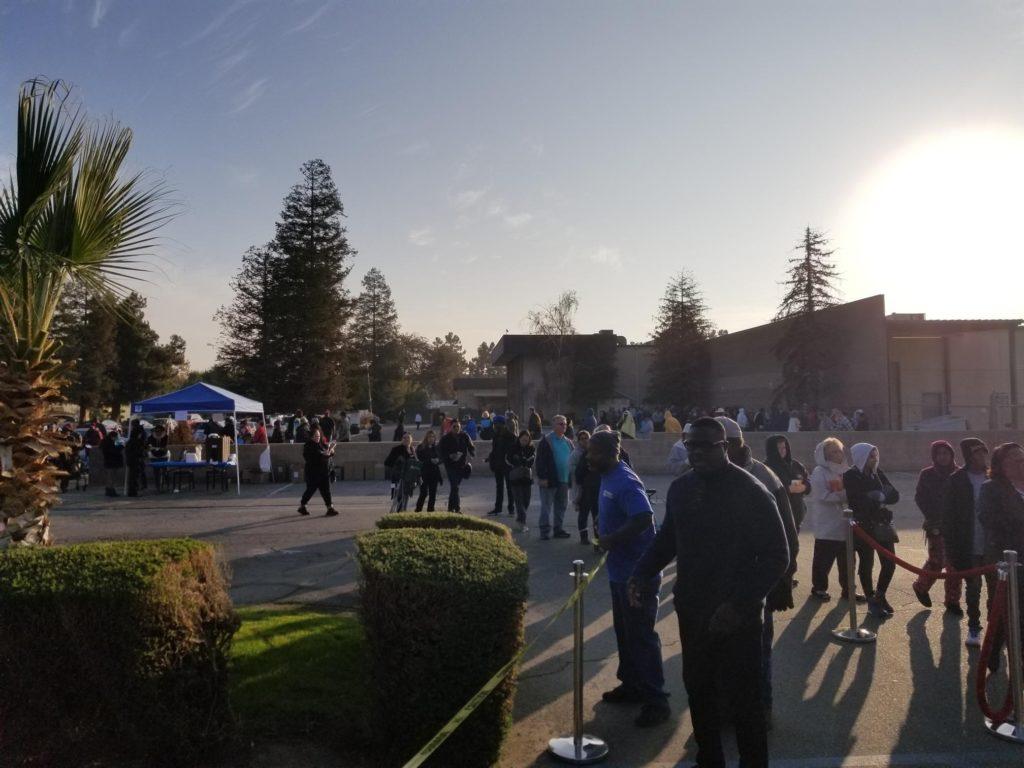 Wingstop turkey giveaway in Bakersfield, California.