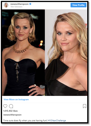 #10YearChallenge with Resse Witherspoon
