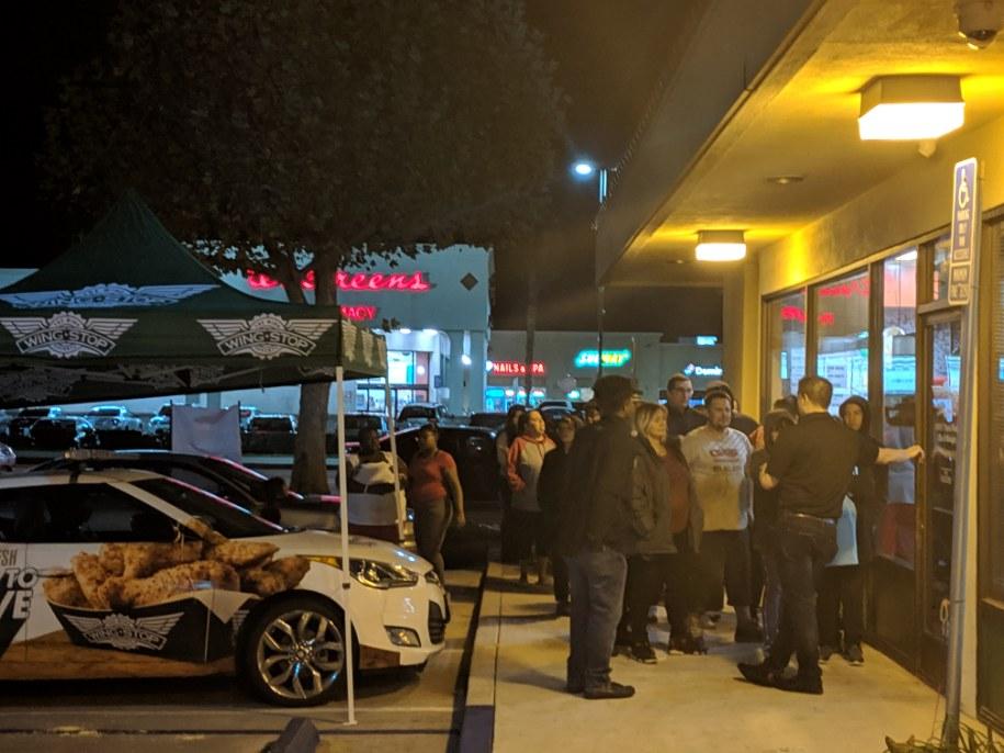 San Bernardino Wingstop Grand Pre-Opening