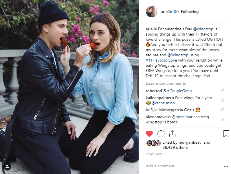 Arielle Vandenberg and Matt Cutshall Get Saucy with Wingstop for Valentine's Day