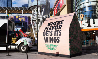 Wingstop Takes Flavor to New Heights with 12-Foot Bag The iconic Wingstop bag debuted its new titanic proportions outside the LA Live venue for the launch of our 'Where Flavor Gets Its Wings' campaign.