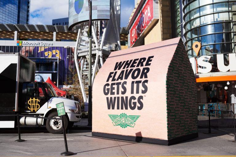 LA Live Wingstop Giant Bag
