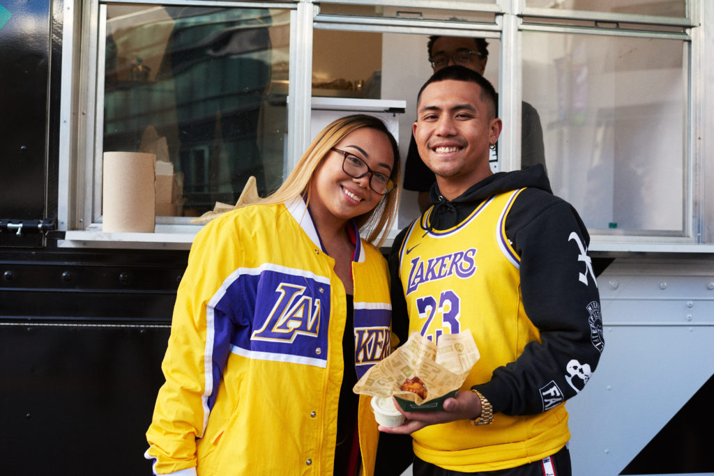 Wing fans at the LA Live venue were treated to Wingstop truck visit and FREE wings.