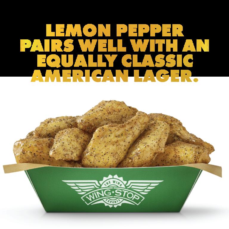 Wingstop Beer Pairing Lemon Pepper