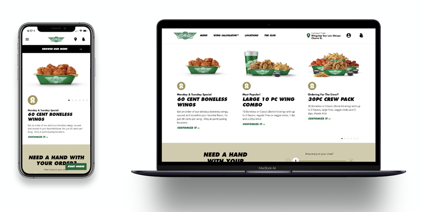 New Wingstop website and Wingstop app