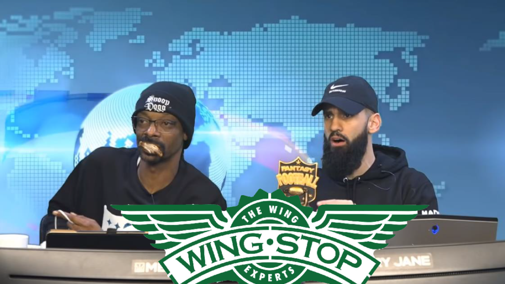 Snoop Dogg with Wingstop at Gangsta Gaming League