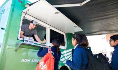 Wingstop Charities Rolled Up with the Wing Truck to Surprise Cristo Rey Dallas Students The Wingstop Wing Truck served free wings to about 350 students and faculty.