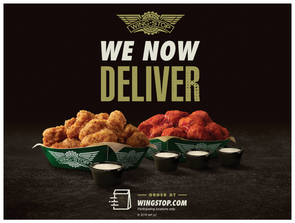 Wingstop Delivery Now Available at Participating Locations