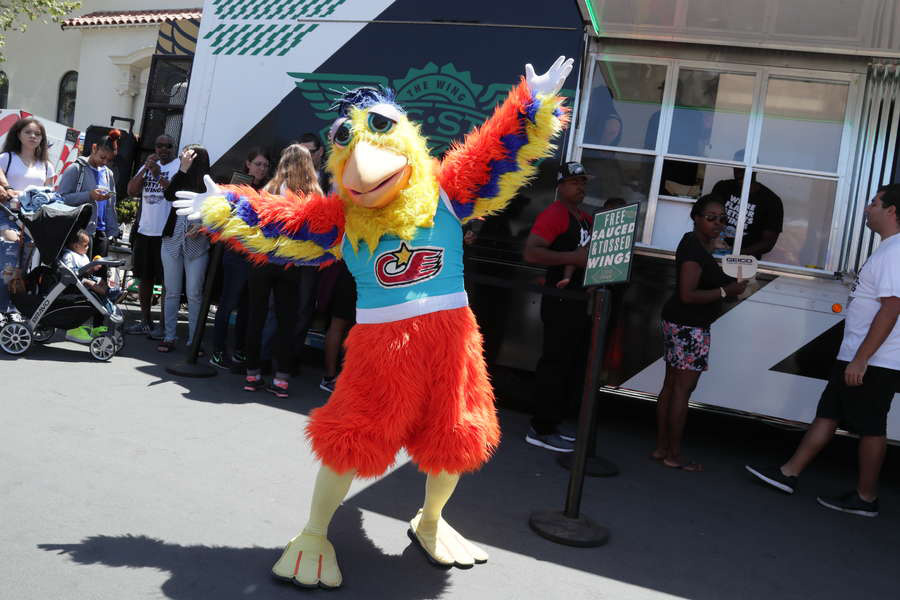 San Diego Chicken with Wingstop for Flavor World Tour