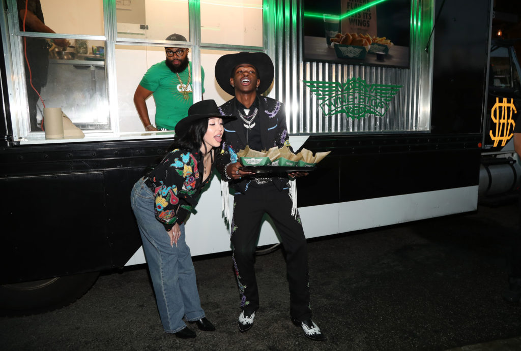 Lil Nas X and Noah Cyrus with Wingstop