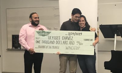 [Video] Congratulations, Ulysses! Choir class sang congratulations to the newest Wingstop Student of the Month.
