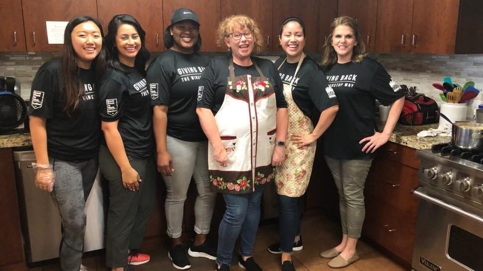 Genesis Womens Shelter team Wingstop Volunteer Day 2