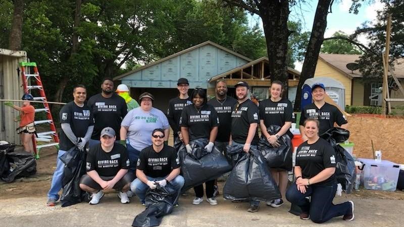 Habitat for Humanity team Wingstop Volunteer Day