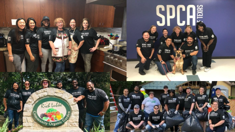 Wingstop Volunteer Day Collage