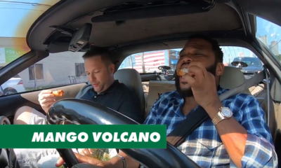 Carpooling with Cool People Eating Wings – Anthony Anderson and Chaos The Wingstop Whip, a 1994 corvette, made its debut along with the week's new flavor remixes.