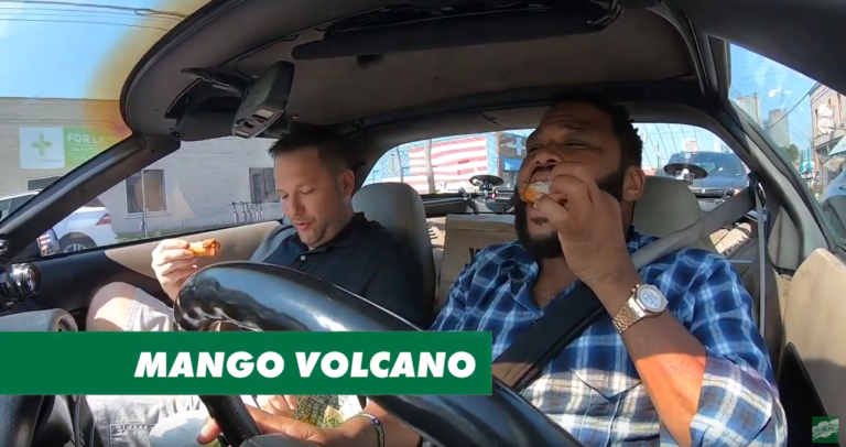 Anthony Anderson and Chaos Try MAngo Volcano