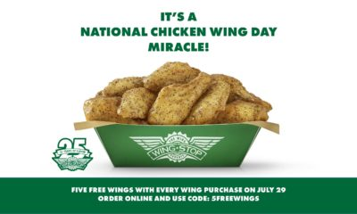 National Chicken Wing Day is the Best Day of the Year! The holiday always means FREE wings for our guests, but this year, it also means BIG giving.