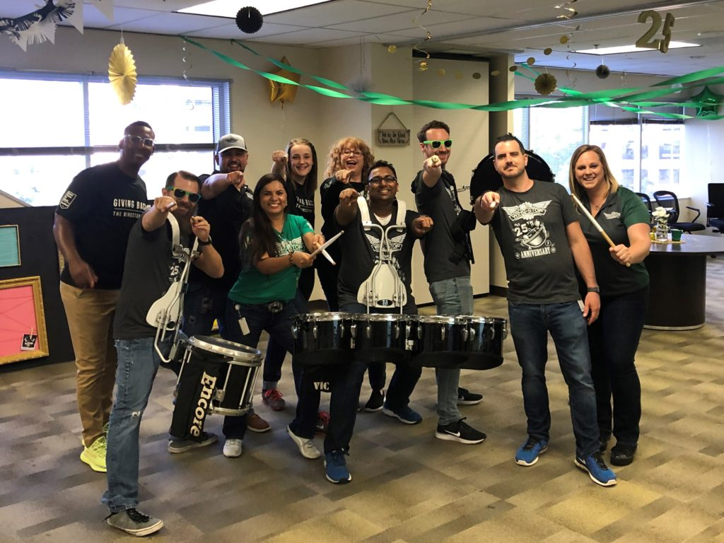 Pep Rally for Wingstop Team Member Appreciation Week 2019