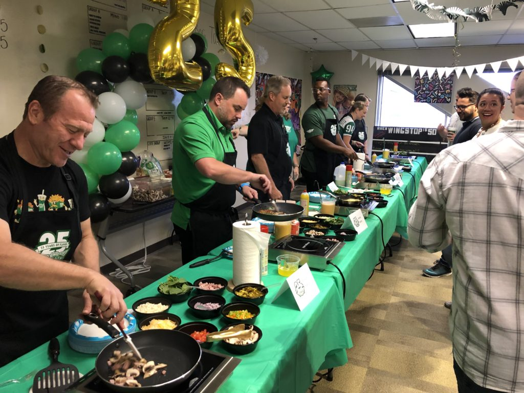 Senior Leaders Serve Breakfast to the Team