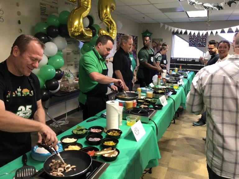 Senior Leaders Serve Breakfast to the Team
