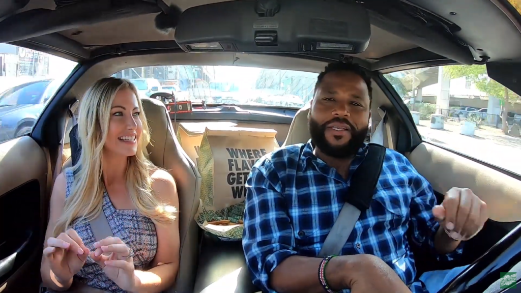 Stephanie Hollman and Anthony Anderson Carpooling with Cool People