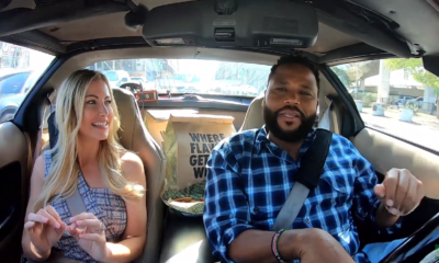 Carpooling with Cool People Eating Wings –  Anthony Anderson and Stephanie Hollman Actor and Comedian Anthony Anderson returns with the Wingstop Whip to pick up the housewife star.