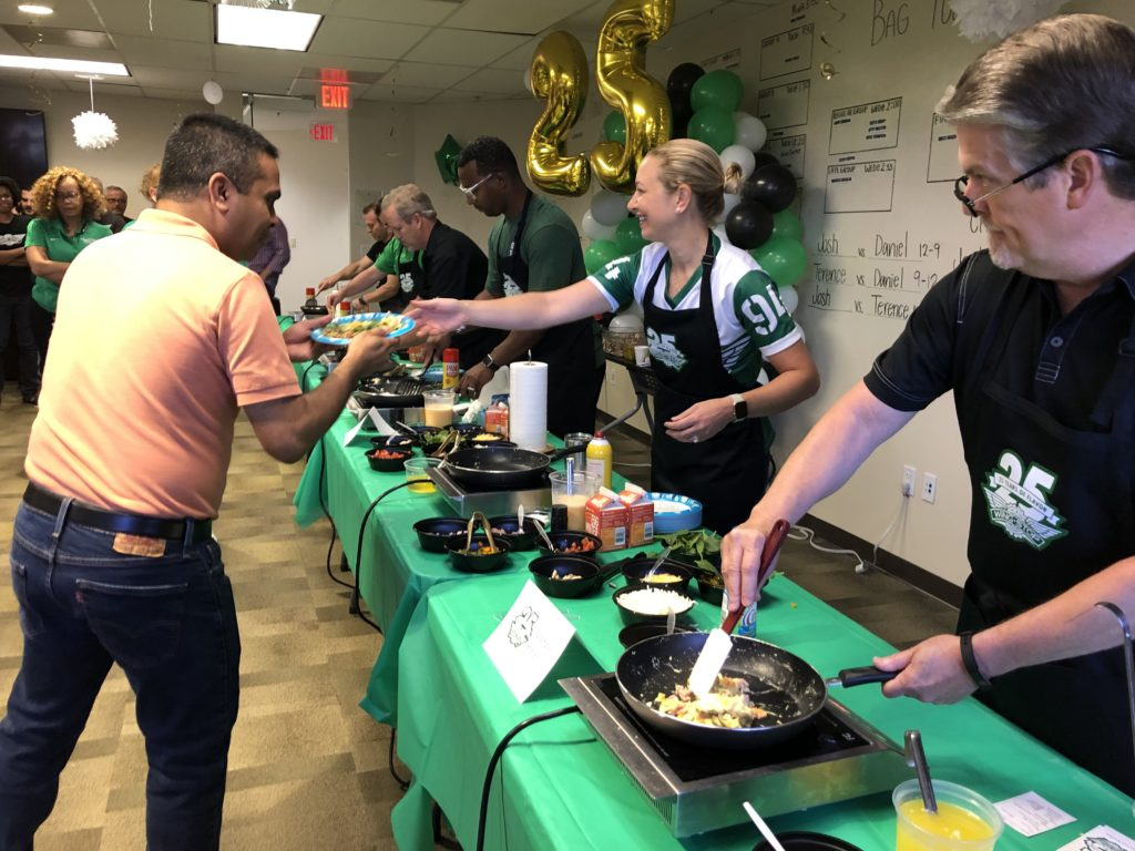 Wingstop Leaders Served Breakfast to Team Members as a Thanks for Their Hard Work Every Day