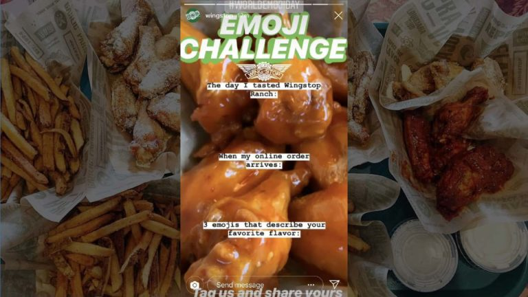 World Emoji Day with Wingstop