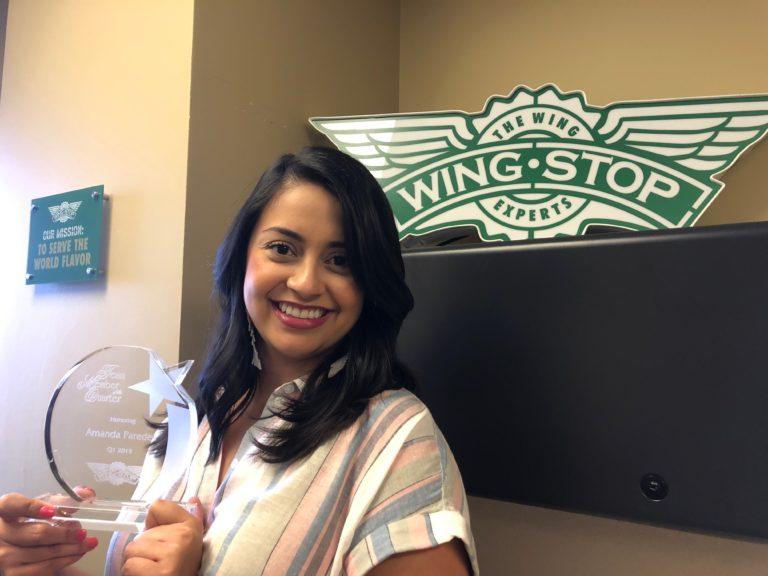 Amanda Paredes Wingstop Team Member of the Quarter