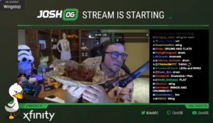 JoshOG tries Wingstop flavors on his Twitch stream