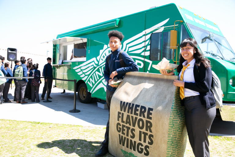 Wingstop Charities and Cristo Rey Dallas