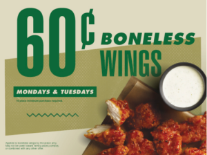 Wingstop 60 Cent Boneless