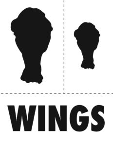 Wings Pumpkin Carving Stencil