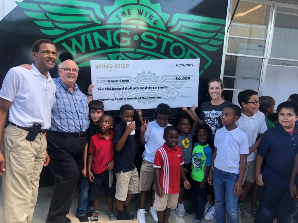 Wingstop at HOPE Farm Donating Grant