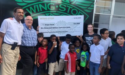 HOPE Farm Serves with Help from Wingstop Charities Grant Wingstop Charities partnered with Wingstop brand partner, Troy Morrison, to gift the nonprofit with $6,000.