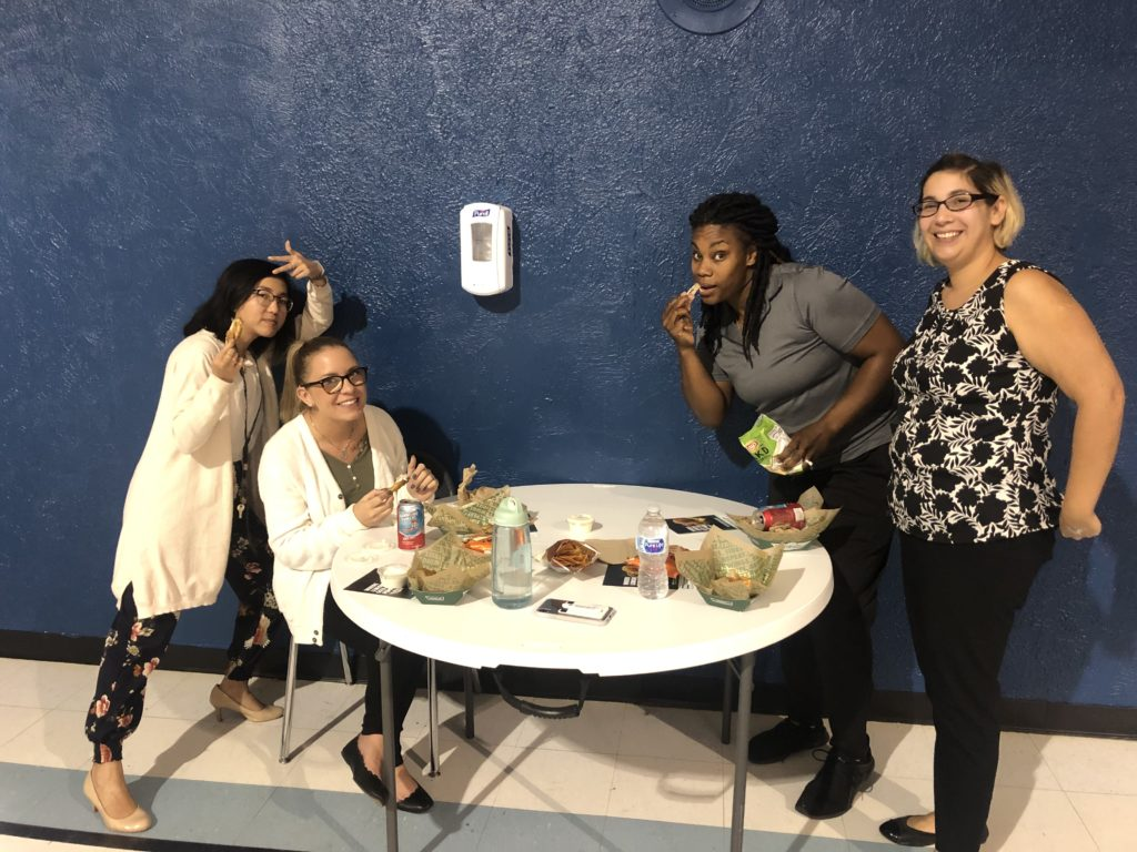 Cristo Rey faculty appreciated the lunch break just as much as the students.