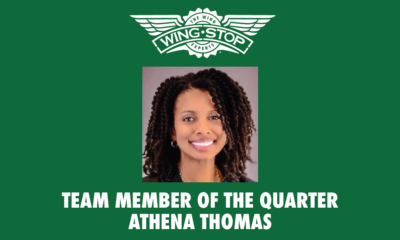 Team Member of the Quarter – Athena Thomas Manager of traditional innovation achieves team member award at Wingstop!