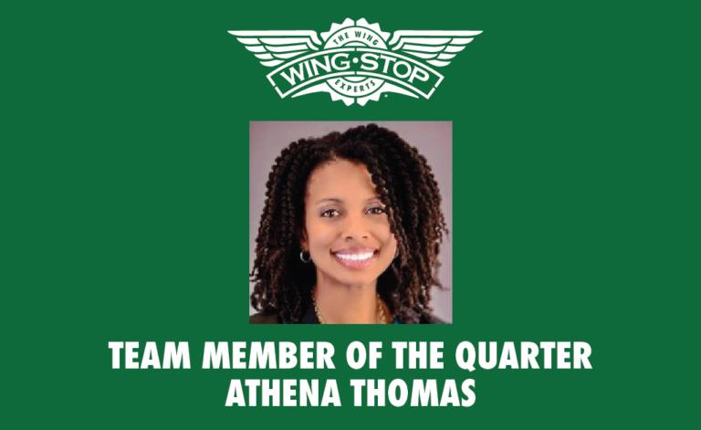 Team Member of the Quarter Athena Thomas