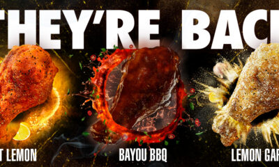 "Wingstop's ""Remix"" Flavors Hot Lemon, Lemon Garlic, and Bayou BBQ are BACK! Get them for a limited time starting Valentine's Day!"